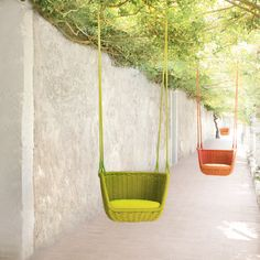 Rope garden hanging chair ADAGIO By Paola Lenti design Francesco Rota Hanging Furniture, Outside Furniture, Garden Furniture, Furniture Design, Outdoor Furniture, Outdoor Decor, Hanging Chairs, Garden Chairs, Swing Chairs