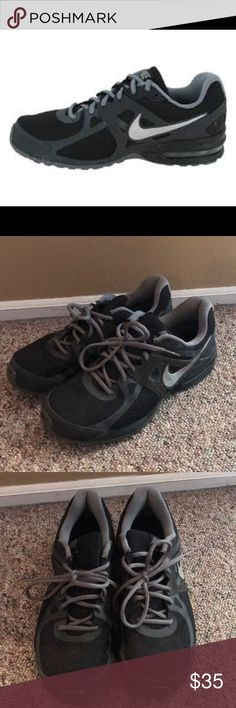 Nike Max Limitless 2 Black and grey men's Nike sneakers - okay condition, all flaws noted in pictures - soles are is great condition just need cleaning - Size 12 Nike Shoes Sneakers