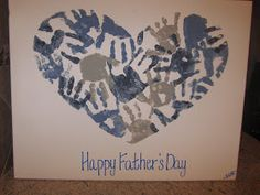 Hand-print Heart Canvas, I like this idea for Valentines Day instead ;-)