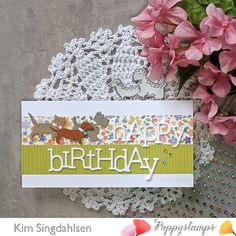 Happy Birthday Crafts, Birthday Cards, Memory Box Cards, Third Birthday, Little Pets, Animal Cards, Whittling, Creative Thinking, Cool Fonts