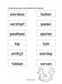 Werkbladen taal - pasen ~ Juf Milou Diy For Kids, Preschool, Math Equations, Pdf, Website, Image, Preschools, Senior Year, Kindergarten