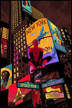 Spider-Man: Far From Home - Created by Chris ThornleyYou can find Amazing spiderman and more on our website.Spider-Man: Far From Home - Created by Chris Thornley Poster Marvel, Marvel Comics, Marvel Funny, Marvel Art, Marvel Heroes, Ms Marvel, Captain Marvel, Marvel Vision, Amazing Spiderman