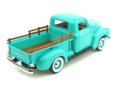 Diecast Auto World - Road Signature 1/18 Scale 1950 GMC Pickup Truck Green Diecast Model 92648, $39.99 (http://stores.diecastautoworld.com/products/road-signature-1-18-scale-1950-gmc-pickup-truck-green-diecast-model-92648.html/)