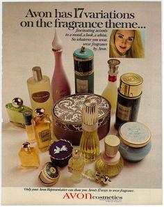 Avon has 17 variations on a fragrance theme. Print Ad, 1968