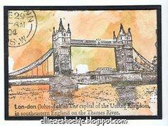 ATC by Ellie Knol using Darkroom Door London Vol 1 Rubber Stamps. http://www.darkroomdoor.com/rubber-stamp-sets/rubber-stamp-london-vol-1