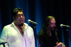 Simón Román en el espectáculo ofrecido en Casa Camarón de la Isla