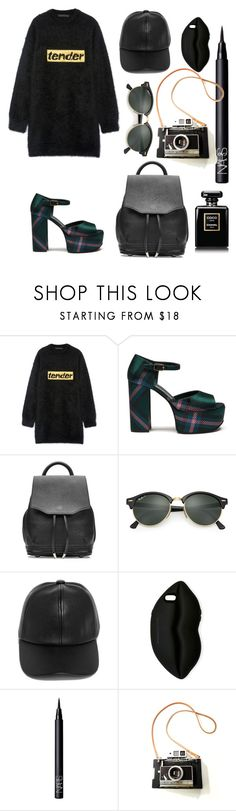 """#27"" by lilipandicorn22 ❤ liked on Polyvore featuring Alexander Wang, Mulberry, rag & bone, Ray-Ban, LULUS, STELLA McCARTNEY and NARS Cosmetics"