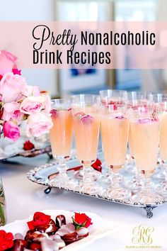 Sparkling Ruby Red Grapefruit & Pomegranate Mimosa Drinks Pretty Nonalcoholic Brunch Drinks – simple beautiful recipes for brunch – blush – pink drinks with edible flowers – fancy – Cocktails and Pretty Drinks Drink Recipes Nonalcoholic, Non Alcoholic Drinks, Beverages, Brunch Drinks, Party Drinks, Brunch Table, Champagne Brunch, Pink Drinks, Summer Drinks