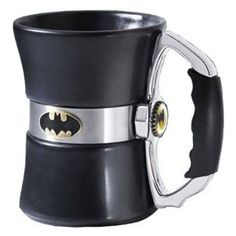 This is by far the most Awesome Way to Enjoy a Cup of Strong Coffee! Just pour in your favourite hot beverage and watch as the Batman Logo comes to life!
