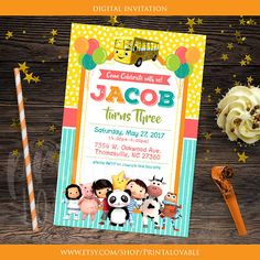 DIGITAL Little Baby Bum invitation Little Baby Bum thank you