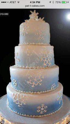 new Ideas for wedding ideas cake disney Beautiful Wedding Cakes, Beautiful Cakes, Amazing Cakes, Frozen Wedding Theme, Frozen Theme, Snowflake Cake, Frozen Snowflake, Wedding Cake Knife And Server Set, Festa Frozen Fever