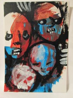 """HORDES # 918""       Framed Print  4""x6""  painting by   jack larson"