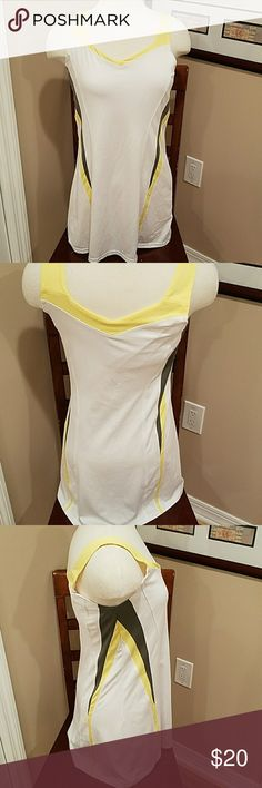 BOLLE TENNIS DRESS!!! Yellow, white and gray tennis dress. Size medium. bolle Dresses
