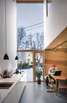 Det er utrolig hva a Arch Interior, Interior Exterior, Kitchen Interior, Kitchen Design, Interior Design, Detail Architecture, Interior Architecture, Home Decoracion, Narrow House