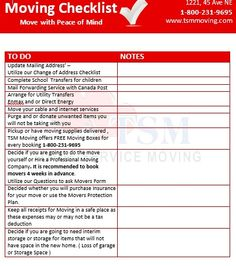 Moving tips on pinterest moving checklist duct tape and for Moving to a new home checklist