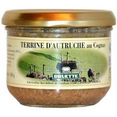 Terrine d'autruche au Cognac 180gr - viande tendre - terrine - parfumé Cognac - 4.54€