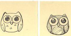 owl drawing model