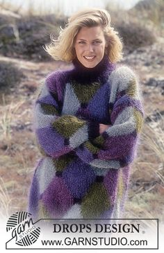 DROPS Sweater i Vienna med harlekin-mønster ~ DROPS Design