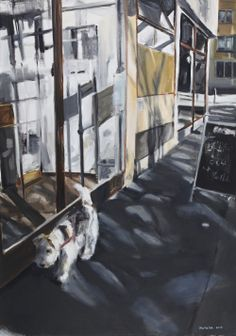 In front of Café Neumarkt, Oil on Canvas, 70x100cm, 2013