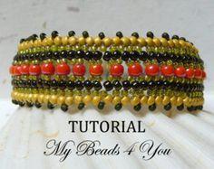 Beadwoven BraceletBeaded Bracelet Embellished by mybeads4you