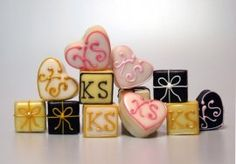 Monogrammed Petite Fours from Hostess Gift Ideas
