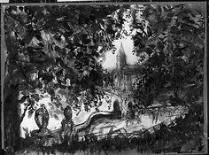 Pierre Laprade Château de la Duchesse d'Uzès 1920 watercolor. Met Museum. Gift of Adelaide Milton DeGroot, 1967. Accession number 23