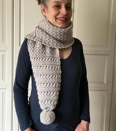 EASY Crochet Scarf Pattern Womens Crochet Scarf PATTERN