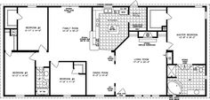 The TNR-46811W - Manufactured Home Floor Plan | Jacobsen Homes