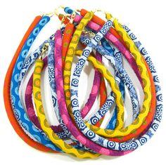 Shweshwe Rope Necklaces.