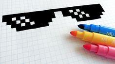 Handmade Pixel Art - How To Draw Sunglasses Turn Down For What #pixelart