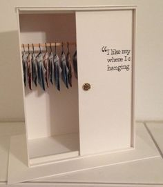 as a gift: self build closet with money on hangers on the inside