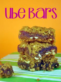 Bake Happy: Ube Bars Recipe