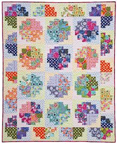 called sweet rolls, a log cabin block variation...like the pattern, dots with prints is good too
