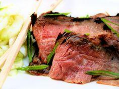 Korean Flank Steak and chilled soba
