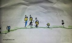 Kiwi illustrated as part of the family - The Adventures of Kiri Kiwi and the Little Girl on Passing Pinwheels