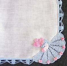 Southern Belle Crochet Edge Vintage Hankie