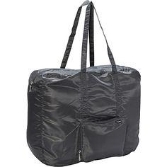 #LightweightPackableExpandableBags, #TravelAccessories - baggallini Large Zip-Out Travel Bagg Charcoal/Fuschia - baggallini Lightweight packable expandable bags
