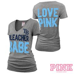 Tampa Bay Rays Victoria's Secret PINK® Deep V-Neck Bleacher Babe Tee.