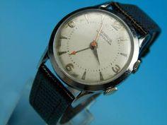 Analog Hand Winding ベンラスBenrusアラーム手巻きアンティーク腕時計動画あり Watch Antique ¥24800yen 〆09月30日
