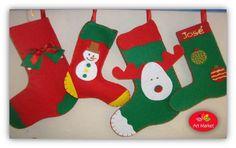 --- BOTAS DE NATAL ---  Bota de Natal em feltro.  Perfeitas para este Natal!  Faz já a tua encomenda.  *** Aceitam-se pedidos especiais.
