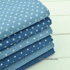 Pre Washed Denim Cotton Fabric/ Summer Light Weight Denim