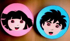 Caixas p/lembrancinha Dora e Diego