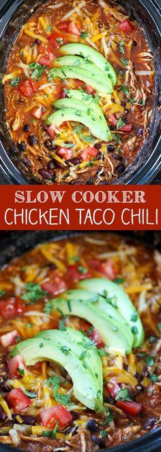 Slow Cooker Chicken Taco Chili - No. 2 Pencil