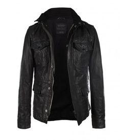 Seville Leather Jacket, Men, Leathers, AllSaints Spitalfields