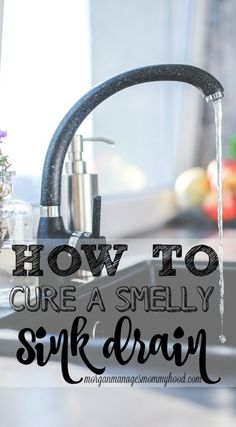 ***How To Clean A Smelly Sink Drain ~ is there a weird smell in your kitchen? It could be coming from your sink drain. Read on to learn how to cure a smelly sink drain naturally! Smelly Sink Drain, Sink Drain Smell, Cleaning Sink Drains, Toilet Cleaning, Kitchen Sink Cleaning, Sink Drain Cleaner, Kitchen Drain Smell, Natural Drain Cleaner, Grout Cleaner