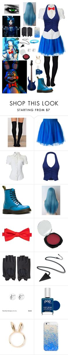 """""""FNAF: Daughter of Toy Bonnie"""" by ender1027 ❤ liked on Polyvore featuring Freddy, P.A.R.O.S.H., Dr. Martens, Saddlebred, Forever 21, Music Notes, Pop Beauty, Natasha Zinko, Casetify and Emi Jewellery"""