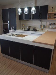 kitchen cabinets, black