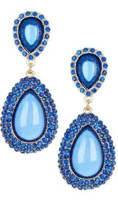 Gorgeous Blue Drop Earrings