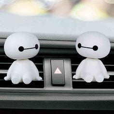 2X Baymax Car Air Freshener Perfume Holder Car Interior for Air Condition Outlet