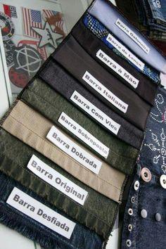 Tipos de barras para calça